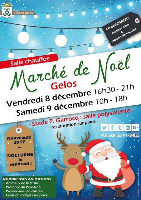 Marché de Noël Gelos 2017