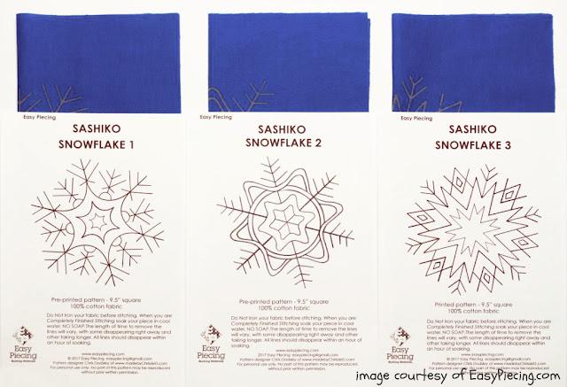 Sashiko Snowflake Designs by www.madebyChrissieD.com