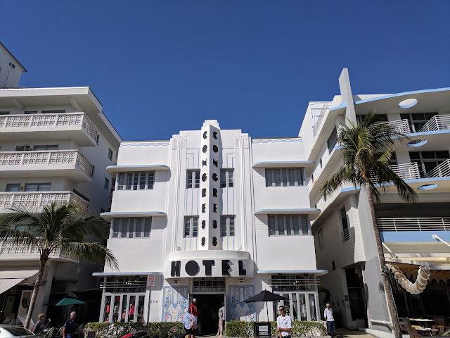 Congress Hotel in the Miami South Beach Art Deco Historic District