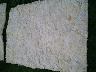 tapete lã de ovelha feltrado