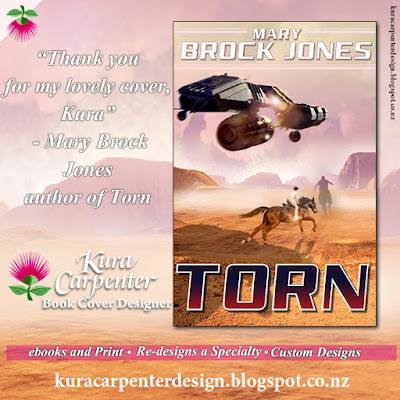 """Torn"" , author Mary Brock Jones, cover designer Kura Carpenter"