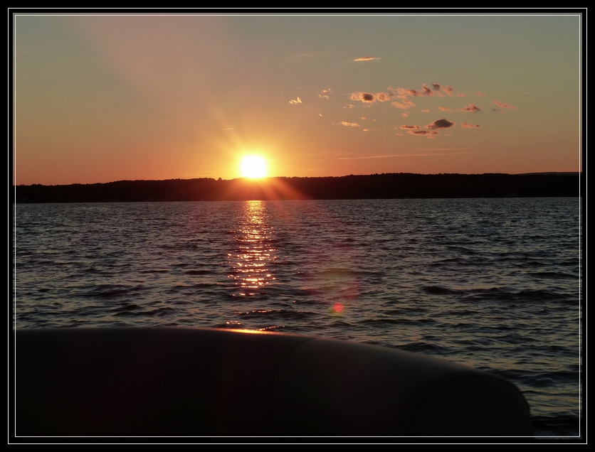 Sunset aboard the Adirondack Cruise & Charter