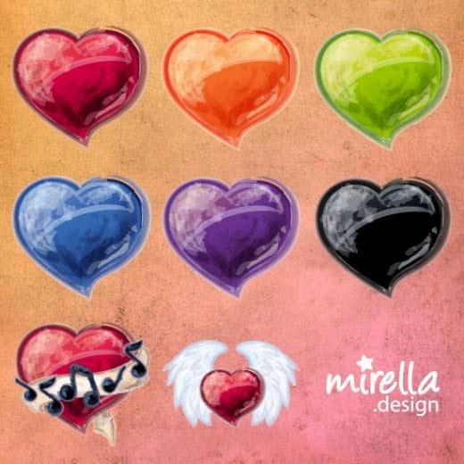 8 Valentine Icons by Mirella-Gabriele