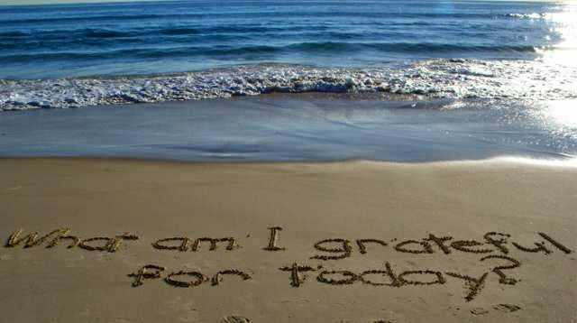 What am I grateful for Today?, Writing in the Sand