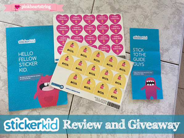 Review and Giveaway: Fun and Ultra-resistant StickerKid Labels You Can Customize!