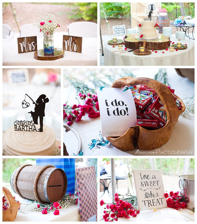 country wedding, fun cake topper, rustic wedding, fishing cake topper, wedding details