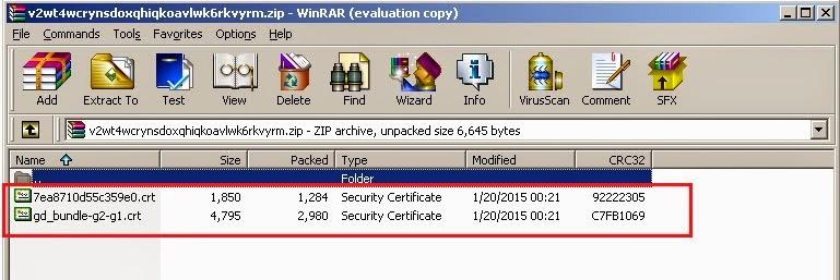 Basic IT Informations: Install GoDaddy SSL Certificate using