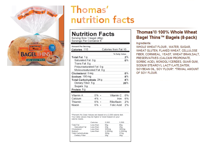 Whole Wheat Sesame Bagels |Whole Wheat Bagel Nutrition Facts