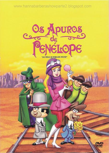 """Animação em Foco: """"OS APUROS DE PENÉLOPE""""  1969 Hanna Barbera"""