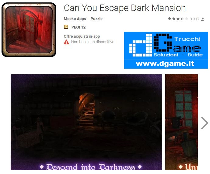 Soluzioni Can You Escape Dark Mansion di tutti i livelli | Walkthrough guide