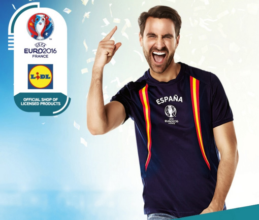 camisetas seguidores de la selección española de fútbol Eurocopa 2016 Lidl