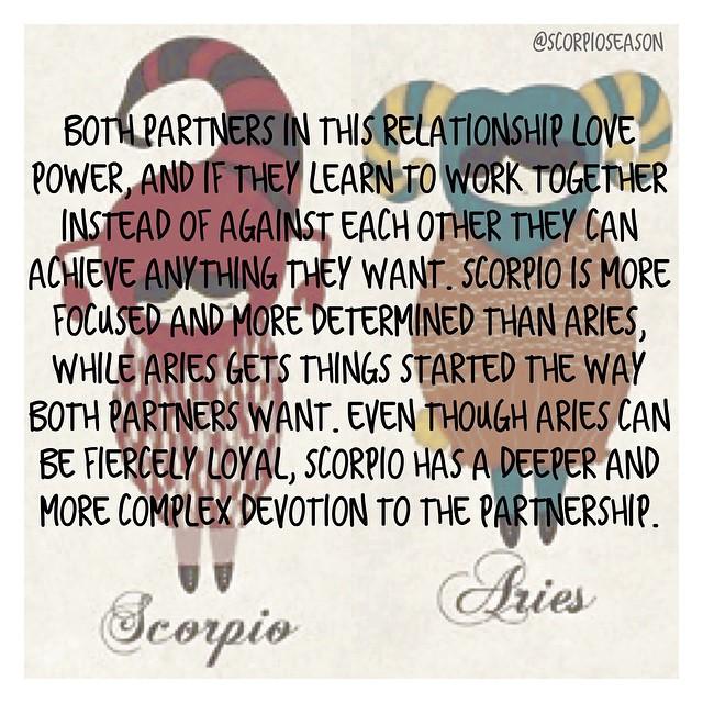 scorpio and aries relationship horoscope