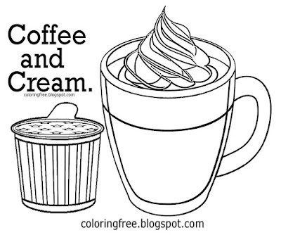 US American beverage hot drink clipart frisco coffee and cream coloring pages for kids drawing ideas