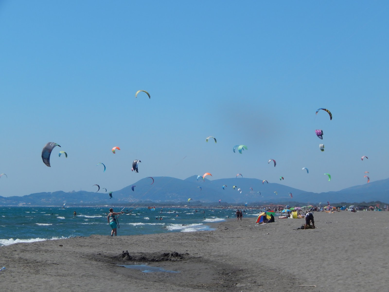 Kitesurf beach Ada Bojana