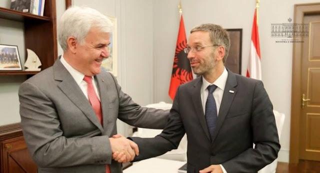 Fatmir Xhafaj hosts Austrian counterpart: Strengthening the cooperation