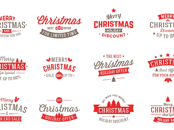 Download Vector Christmas Badges Free