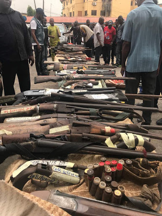 See Guns Recovered By Police In Less Than 3 Weeks In Lagos