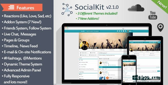 SocialKit 2.1.0 The Ultimate Social Platform Networking
