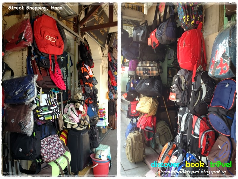 A Medium Sized Backpack With North Face Logo Can Cost As Low Usd10 Before Haggling S Ing Bags Are Mainly Clustered Around The Hoan Kiem Lake