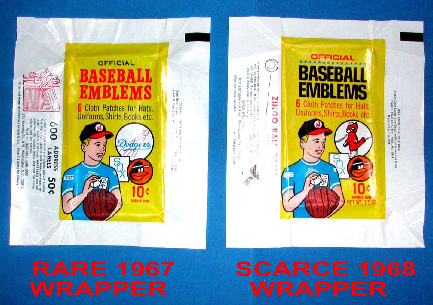 the fleer sticker project 1967 fleer baseball emblems cards