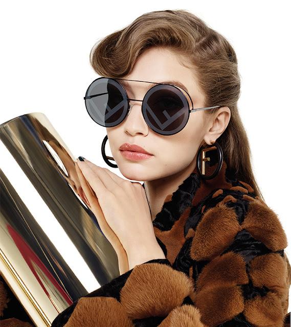Gigi Hadid in Fendi Fall 2017-18 Sunglasses
