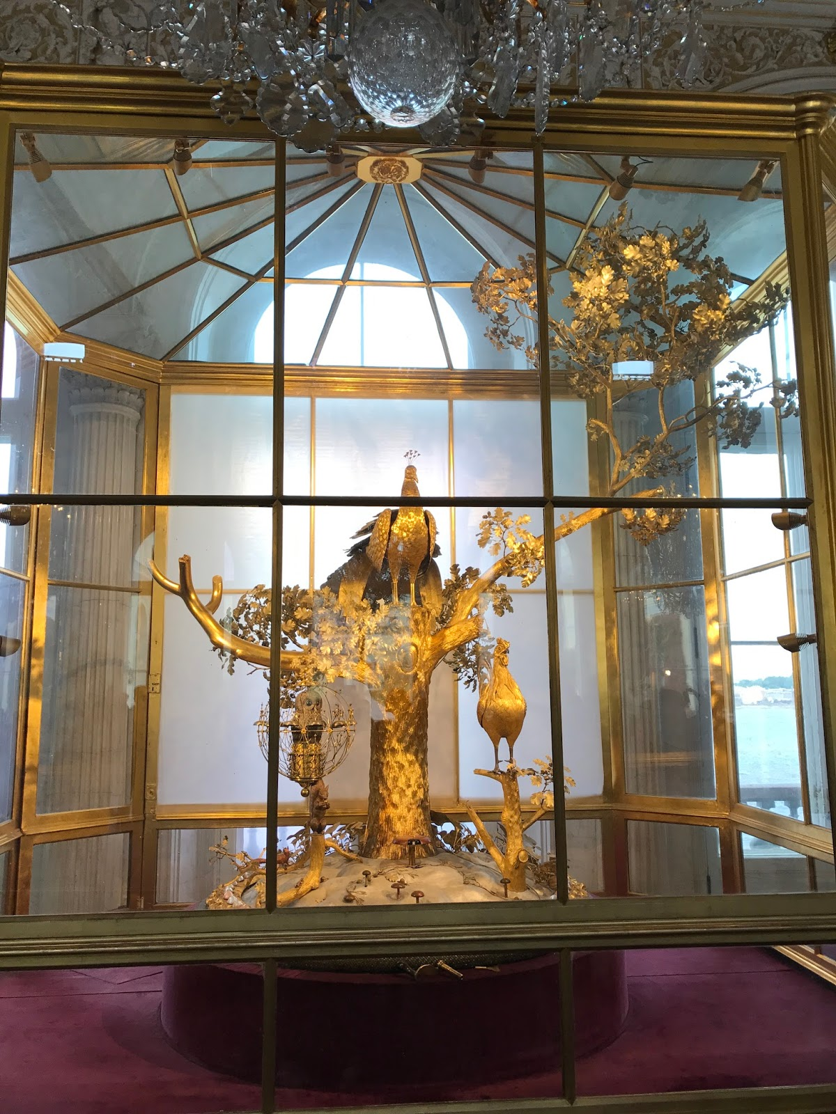 Peacock Clock - Hermitage