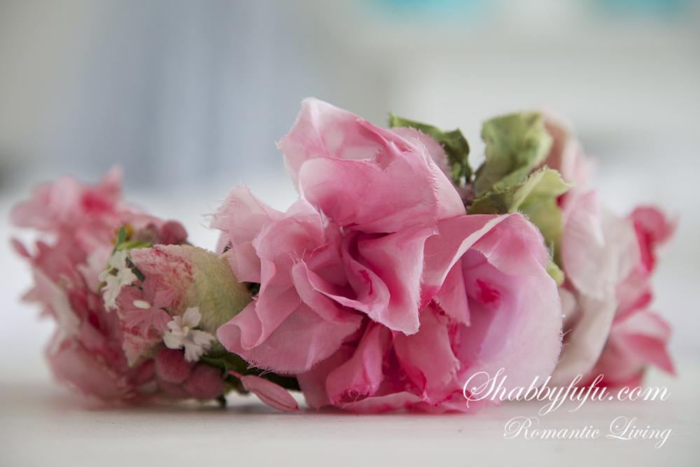 vintage pink millinery roses