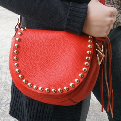 Rebecca Minkoff cherry red saddle bag | AwayFromTheBlue