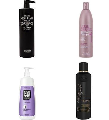 szampony przed keratynowym zabiegiem Montibello, Inoar, Artego, Alfaparf