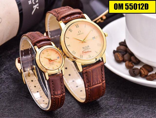 Đồng hồ dây da Omega 55012D