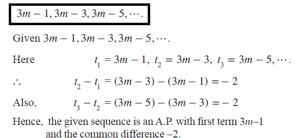 Is the sequence is an A.P. ?