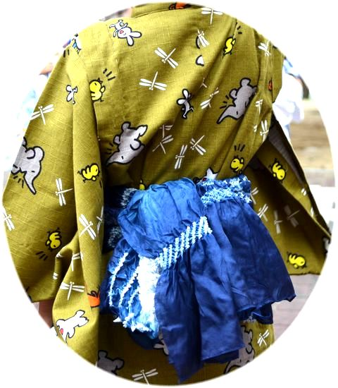 しゅみのきもの.ブログ: 子供の浴衣の着せ方 肩上げ腰上げ