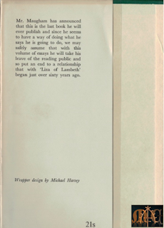 Points of View (1958) by W. Somerset Maugham, dust jacket