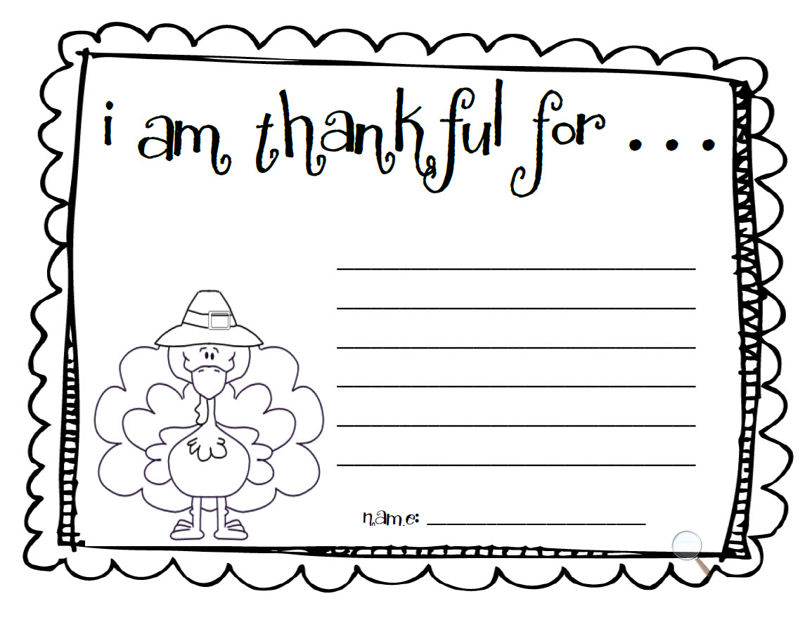 Fun For First Make An I Am Thankful List