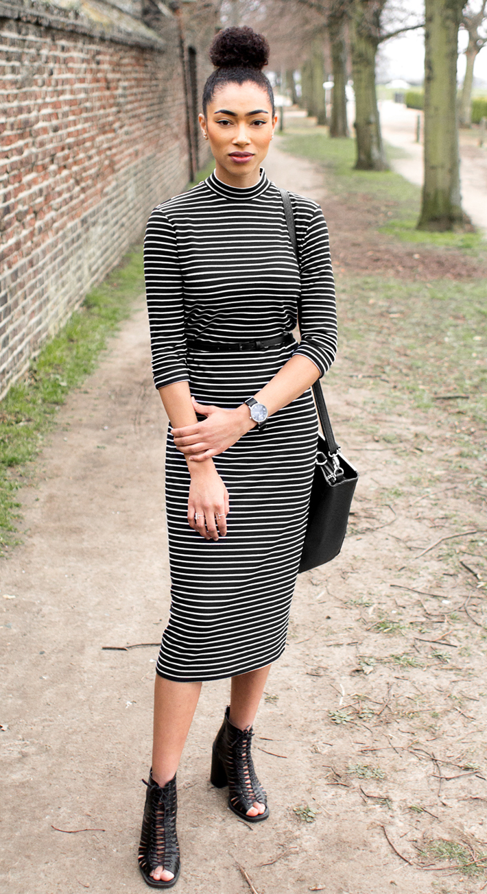 Style | ASOS Midi Column Dress in Stripe
