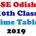 BSE Odisha 10th Exam Time Table 2019   Download Odisha HSC Exam Time Table/Date sheet  2019  