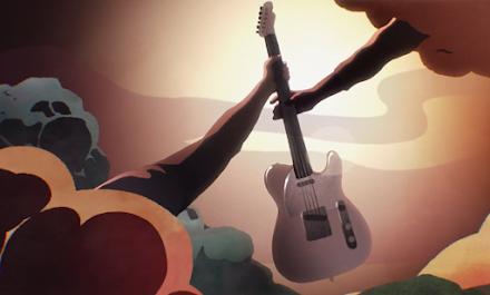 Die Legende von Jimmy Pages Fender Telecaster als Animationsclip |  Led Zeppelin Musikgeschichte