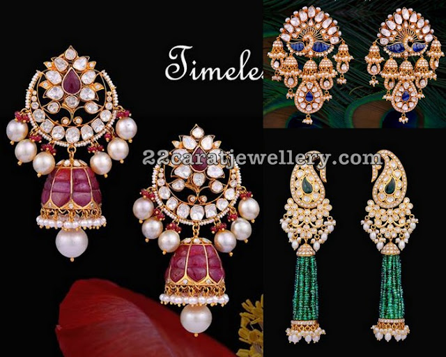 Exclusive Kundan Earrings by Vasundhara Diamond Roof