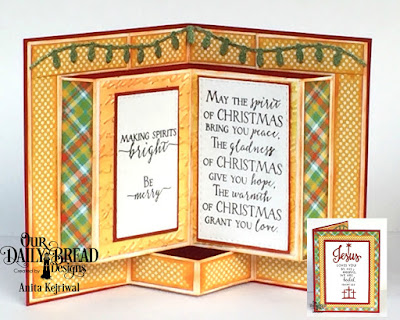 Our Daily Bread Designs Stamp/Die Duos: Jesus Loves You, Our Daily Bread Designs Stamp Set: Merry & Bright, Our Daily Bread Designs Custom Dies: Christmas Lights, Double Stitched Rectangles, Our Daily Bread Designs Paper Collection: Birthday Brights, Our Daily Bread Designs Fun and Fancy Folds Card Kit:  Book Fold