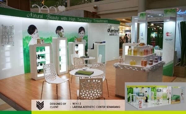 Booth Exhibiton, stand Pamran, Venue Pameran. Larissa Aesthetic Center, Larissa.co.id