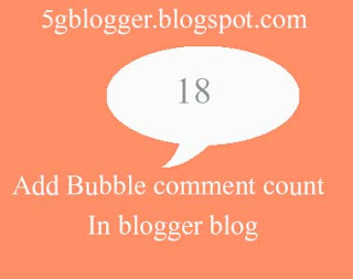 how to add bubble comment in blogger