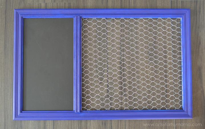 DIY Memo Board at artsyfartsymama.com