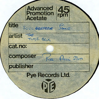 "A rare one-sided UK PYE Records acetate for ""Soul Sauce""."