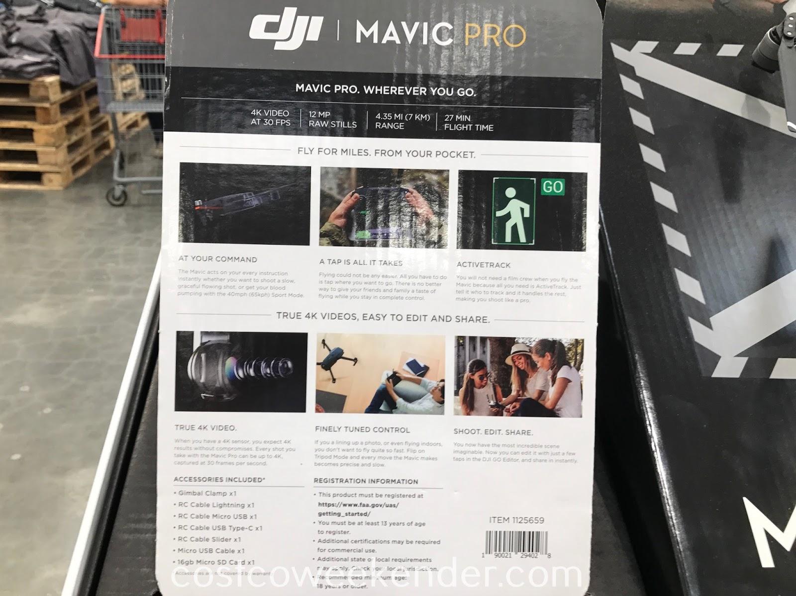 Costco 1125659 - Get a bird's eye view with the DJI Mavic Pro drone