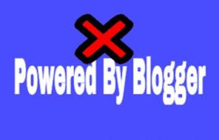 Menghilangkan Tulisan Diberdayakan Oleh Blogger di Blogspot