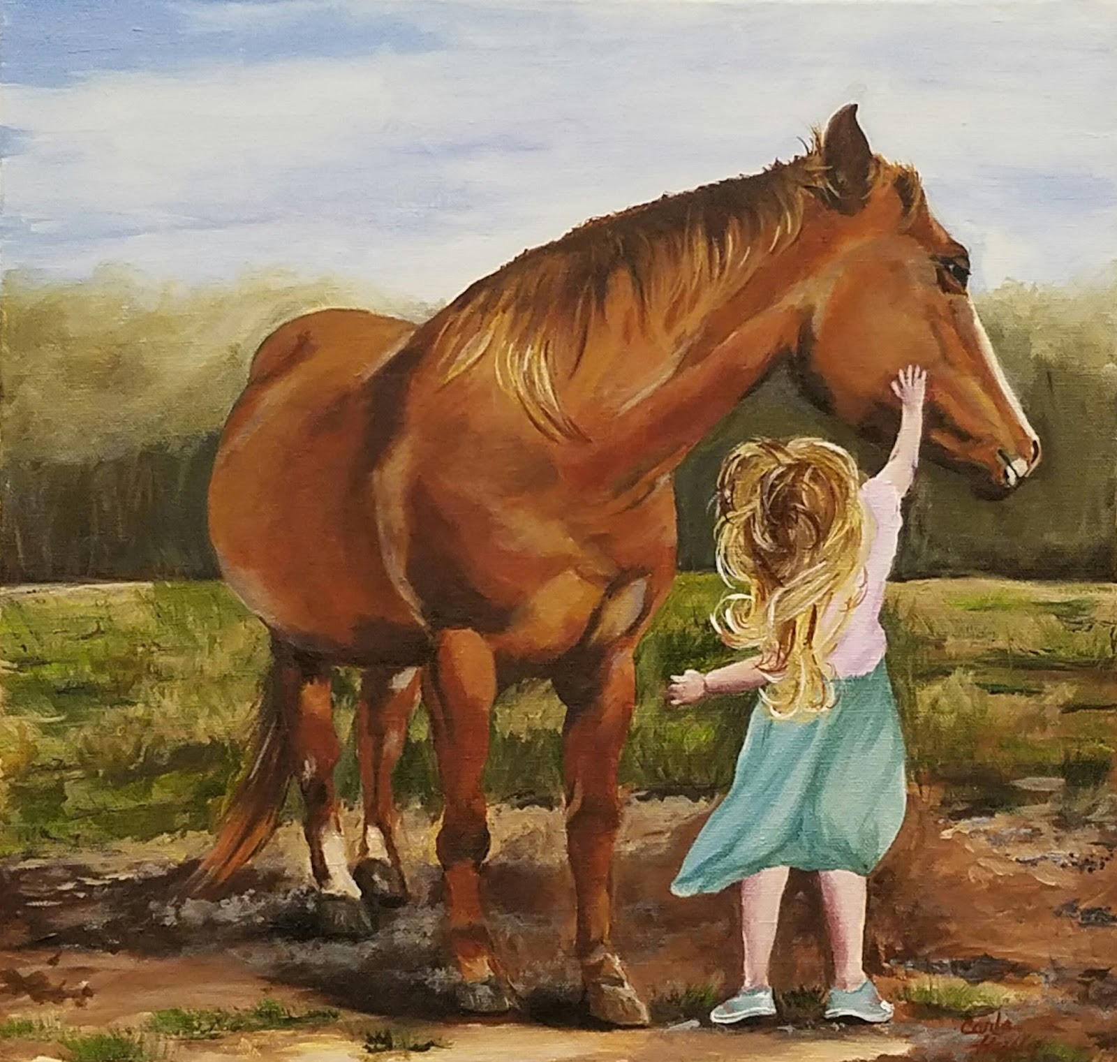 The name Cowboy is the horses name and the horse belongs to her other  #734324