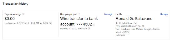Bukti Pembayaran Dari Google Adsense