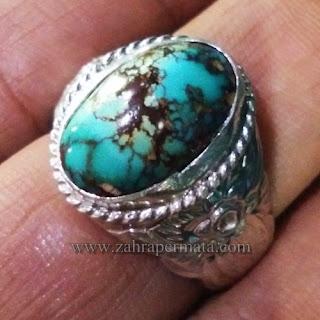 Cincin Batu Permata Pirus Persia - ZP 1152