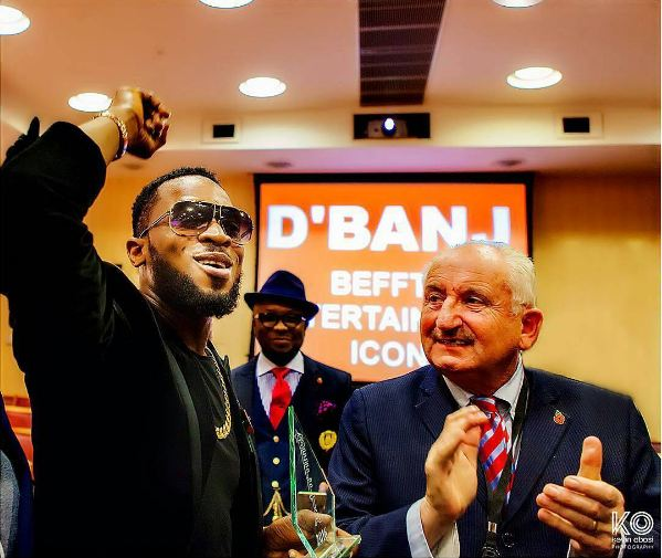 D'banj aka Koko Master Wins Entertainment Icon Of The Year Award In London