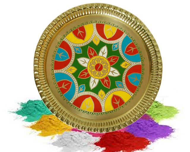Happy Holi Rangoli Colors